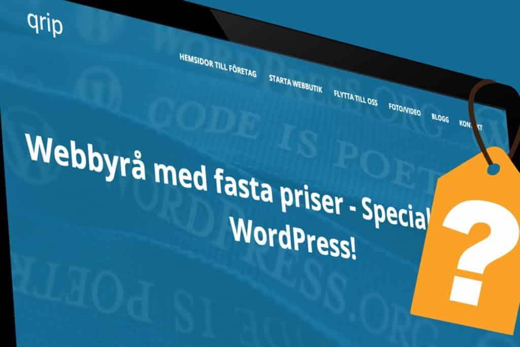 Vad kostar en hemsida? Webbyrå Mediamakarna Grip erbjuder fasta priser med månadsabonnemang.