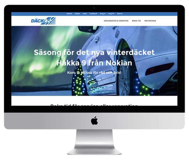 Däckab Bollnäs, Delsbo, Hede, Hudiksvall, Sveg, Åsarna - en hemsida utvecklad och driftad av Webbyrå Mediamakarna Grip - Vi hjälper kunder över hela landet att synas med en professionell hemsida.