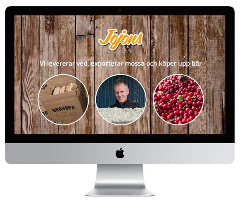 Jojons Naturprodukter - en hemsida utvecklad och driftad av Webbyrå Mediamakarna Grip - Vi hjälper kunder över hela landet att synas med en professionell hemsida.