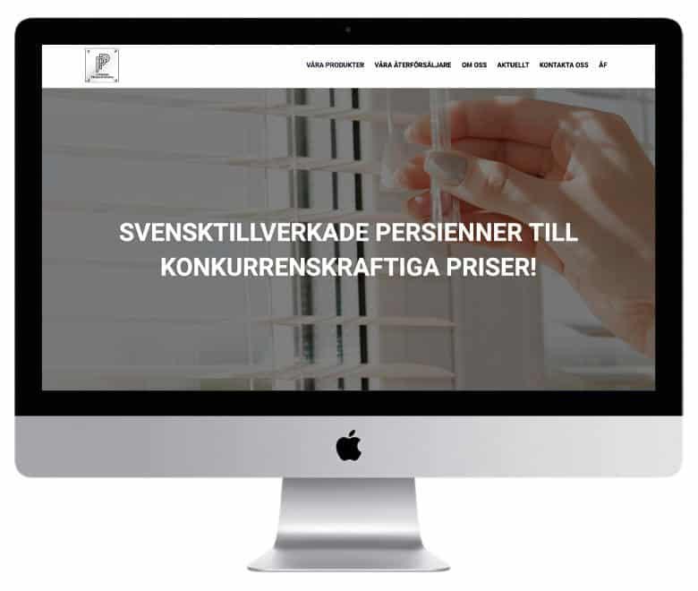 Persiennproducenterna i Stockholm - en hemsida utvecklad och driftad av Webbyrå Mediamakarna Grip - Vi hjälper kunder över hela landet att synas med en professionell hemsida.