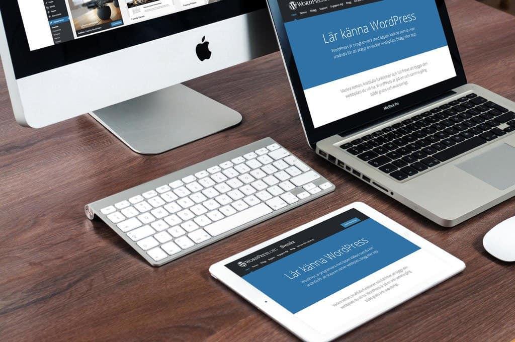 Var tredje webbplats i världen är skapad i WordPress. Webbyrå Mediamakarna Grip hjälper er med en hemsida i WordPress.