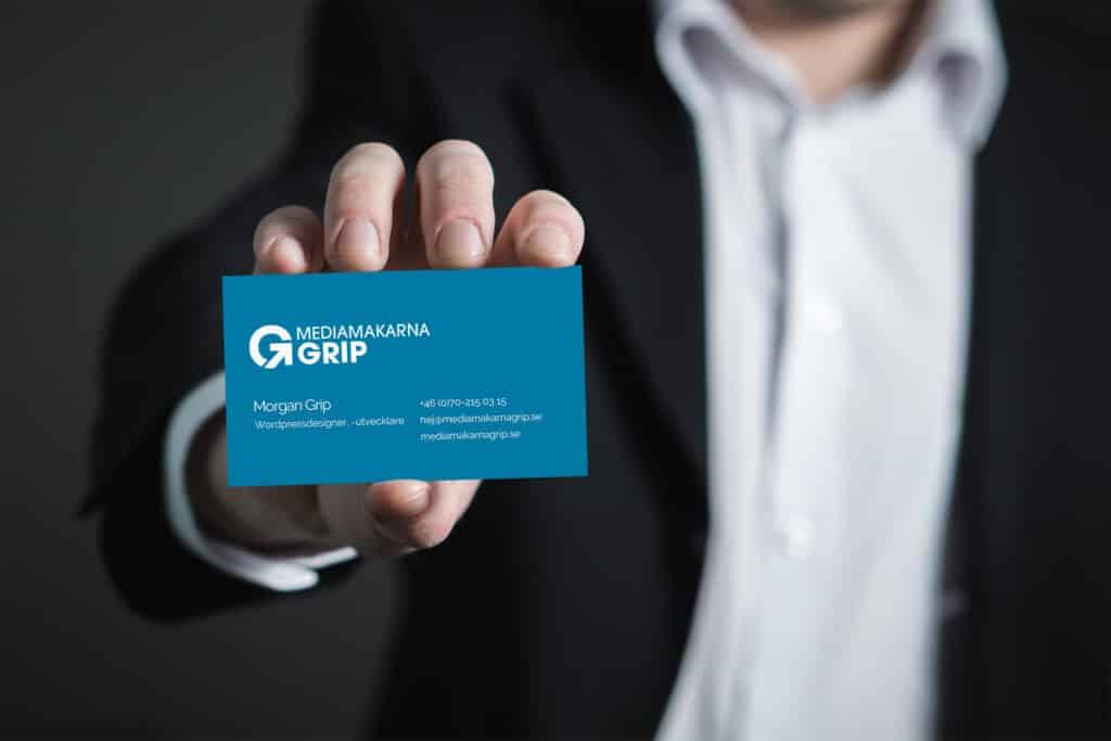 Mediamakarna Grip Webbyrå har ny logotyp och visuell identitet.