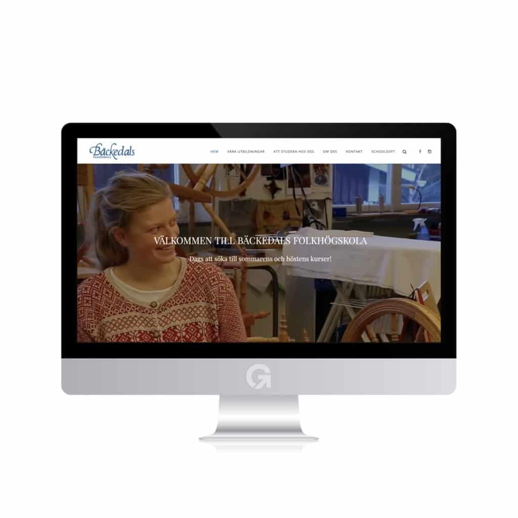 Bäckedals Folkhögskola - en hemsida utvecklad och driftad av Webbyrå Mediamakarna Grip - Vi hjälper kunder över hela landet att synas med en professionell hemsida.