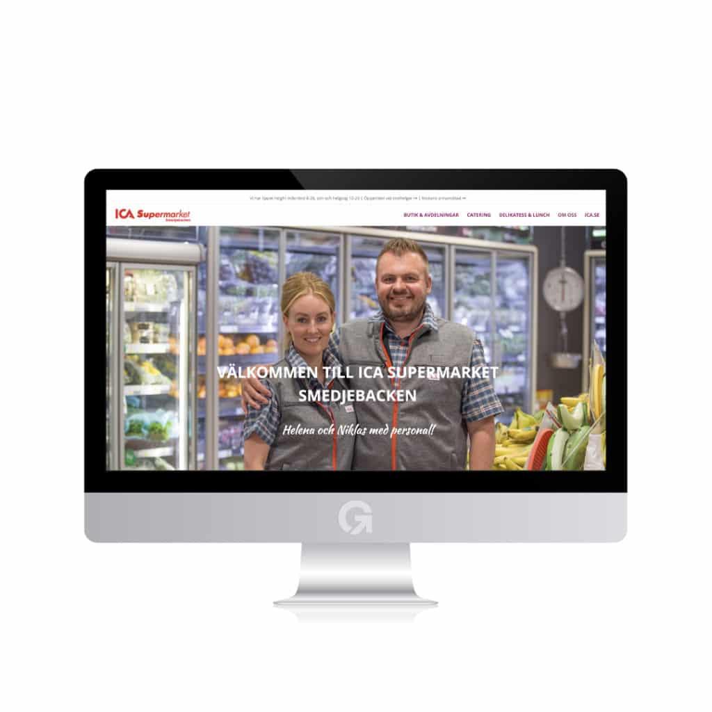 ICA Supermarket i Smedjebacken - en hemsida utvecklad och driftad av Webbyrå Mediamakarna Grip - Vi hjälper kunder över hela landet att synas med en professionell hemsida.