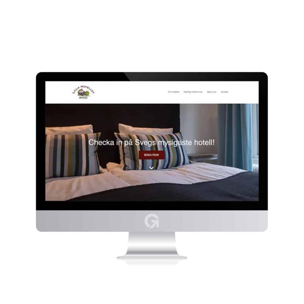 Lilla hotellet - en hemsida utvecklad och driftad av Webbyrå Mediamakarna Grip - Vi hjälper kunder över hela landet att synas med en professionell hemsida.