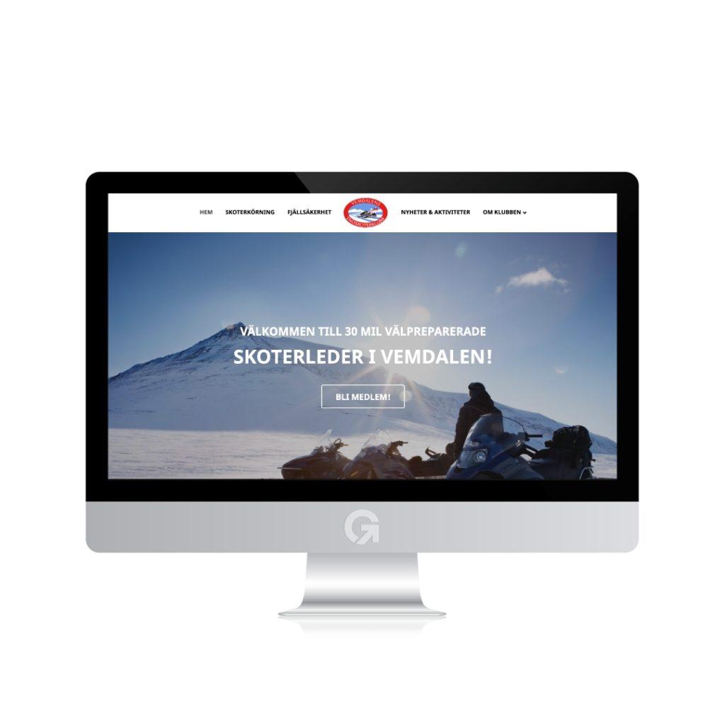 vemdalenssnoskoterklubb.se - en hemsida utvecklad och driftad av Webbyrå Mediamakarna Grip - Vi hjälper kunder över hela landet att synas med en professionell hemsida.