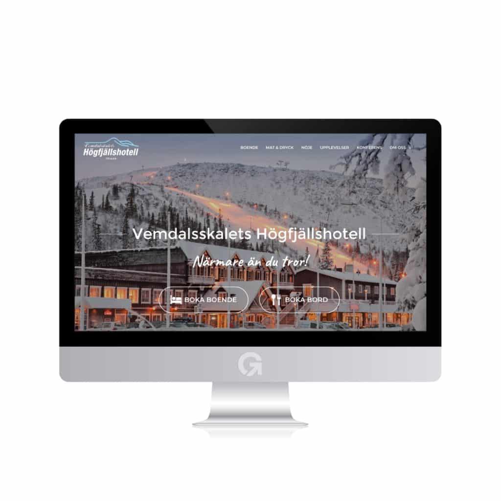 vemdalsskalet.com - en hemsida utvecklad och driftad av Webbyrå Mediamakarna Grip - Vi hjälper kunder över hela landet att synas med en professionell hemsida.