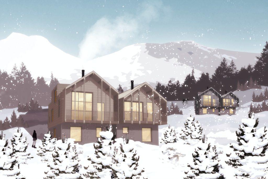 Webbyrå Mediamakarna Grip lanserar ny webbplats till Brf Höglandet, ett nytt exklusivt bostadsområde i Lofsdalen.