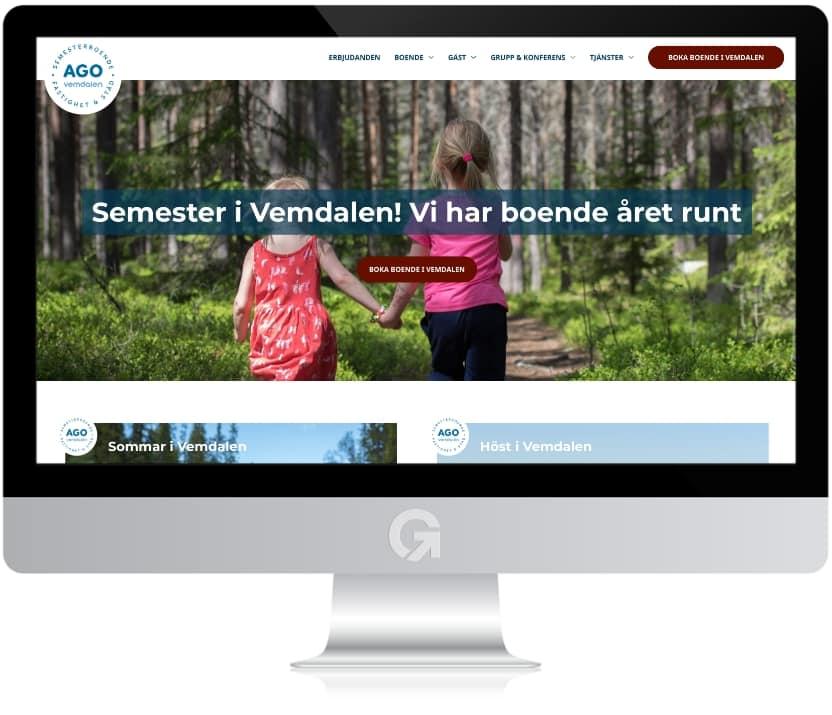 AGO i Vemdalen - en hemsida utvecklad och driftad av Webbyrå Mediamakarna Grip - Vi hjälper kunder över hela landet att synas med en professionell hemsida.