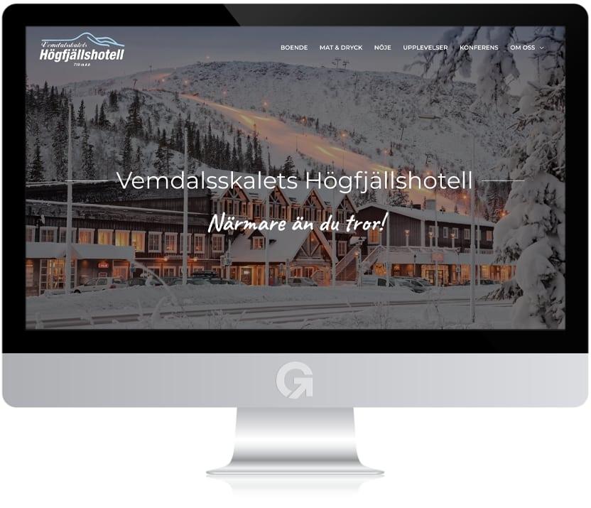 Vemdalsskalets Högfjällshotell - en hemsida utvecklad och driftad av Webbyrå Mediamakarna Grip - Vi hjälper kunder över hela landet att synas med en professionell hemsida.