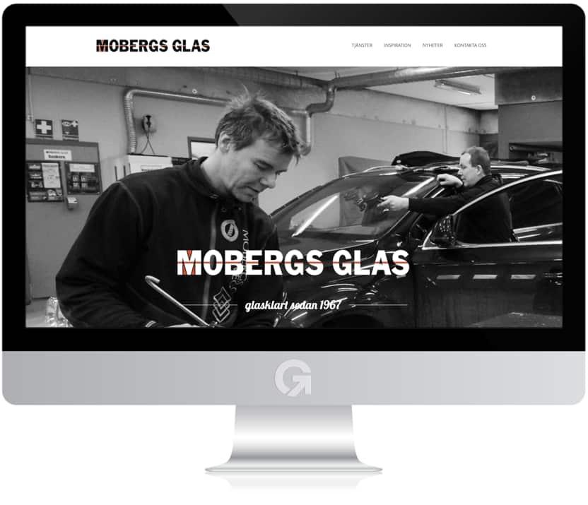 Mobergs Glas - en hemsida utvecklad och driftad av Webbyrå Mediamakarna Grip - Vi hjälper kunder över hela landet att synas med en professionell hemsida.