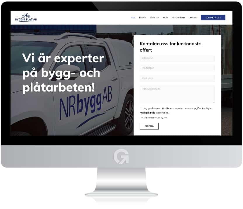 NR Bygg & Plåt - en hemsida utvecklad och driftad av Webbyrå Mediamakarna Grip - Vi hjälper kunder över hela landet att synas med en professionell hemsida.