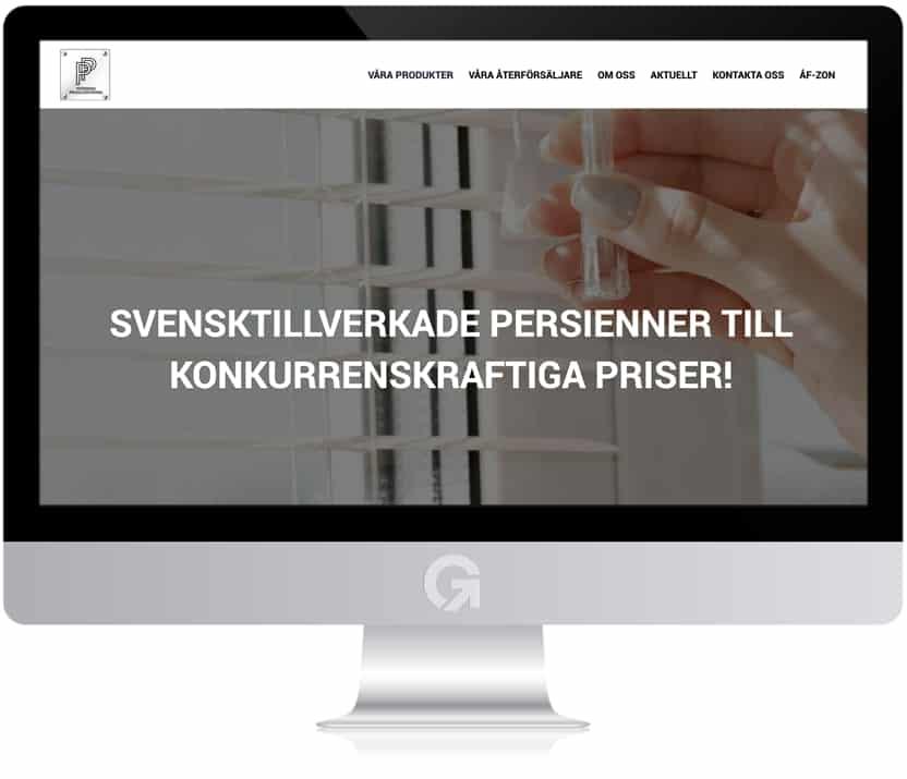 Persiennproducenterna - en hemsida utvecklad och driftad av Webbyrå Mediamakarna Grip - Vi hjälper kunder över hela landet att synas med en professionell hemsida.
