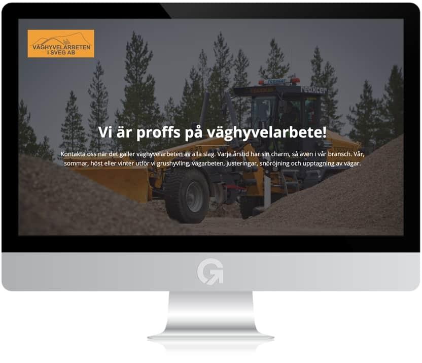 Väghyvelarbeten i Sveg - en hemsida utvecklad och driftad av Webbyrå Mediamakarna Grip - Vi hjälper kunder över hela landet att synas med en professionell hemsida.