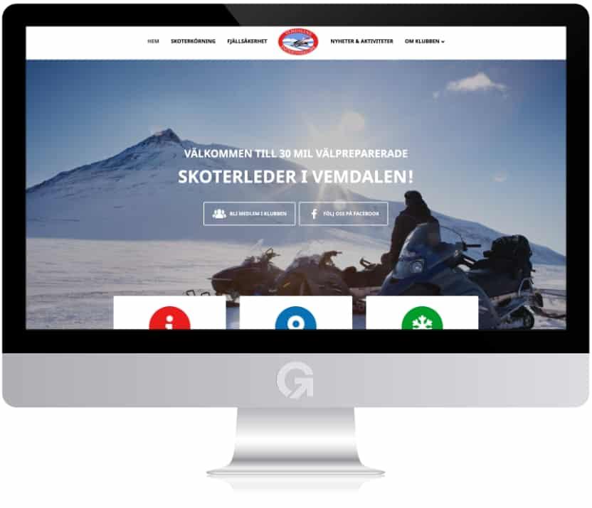 Vemdalens snöskoterklubb - en hemsida utvecklad och driftad av Webbyrå Mediamakarna Grip - Vi hjälper kunder över hela landet att synas med en professionell hemsida.