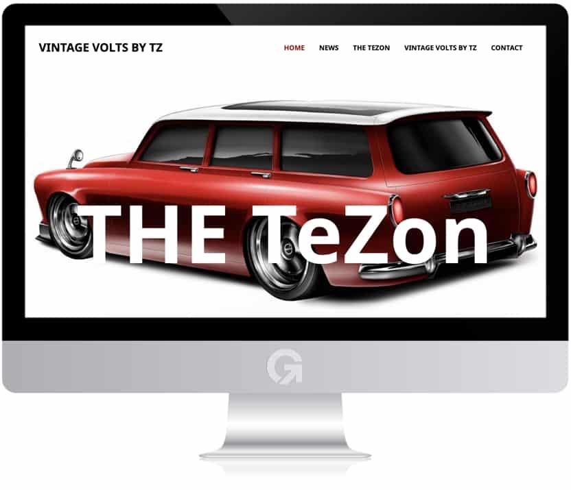 Viintage Volts by TZ - en hemsida utvecklad och driftad av Webbyrå Mediamakarna Grip - Vi hjälper kunder över hela landet att synas med en professionell hemsida.